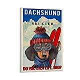 shoudu Retro-Poster, Dackel, Ski Club, Do You Even Lift,