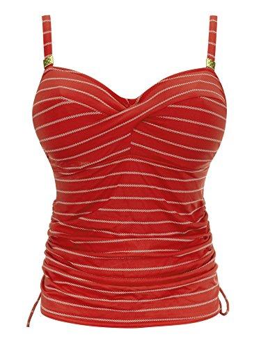 Haut de maillot de bain Fantasie Tankini Ravello Rouge - Couleurs - ROUGE, Tailles - 85E