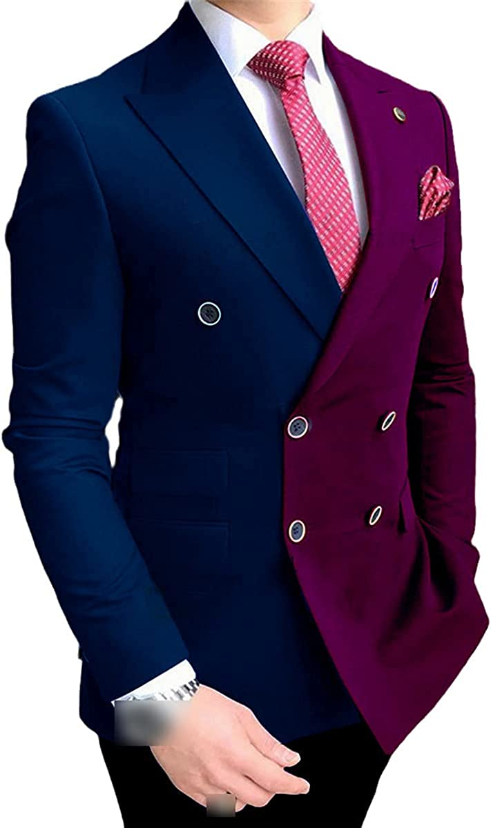 Men's White Jacquard Lapel Suit Custom Slim Groom Customized 3-Piece Wedding Suit