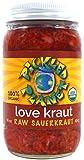 Organic Raw Sauerkraut, 'Love Kraut' Variety, 16 Oz Glass Jar