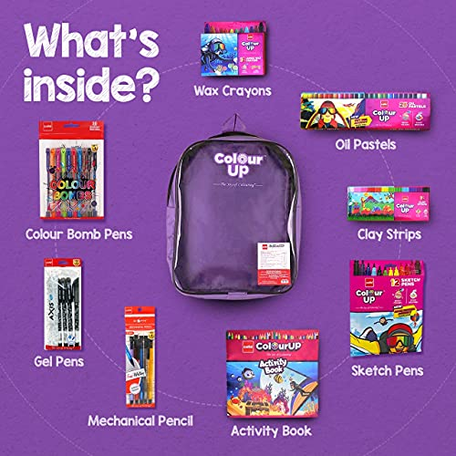 Cello ColourUP Hobby Bag for Kids | Drawing Kit | Stationery Kit | Best for Gifting | Oil Pastel (25 Units) | Jumbo Wax Crayon (12 Units) | Free... 2