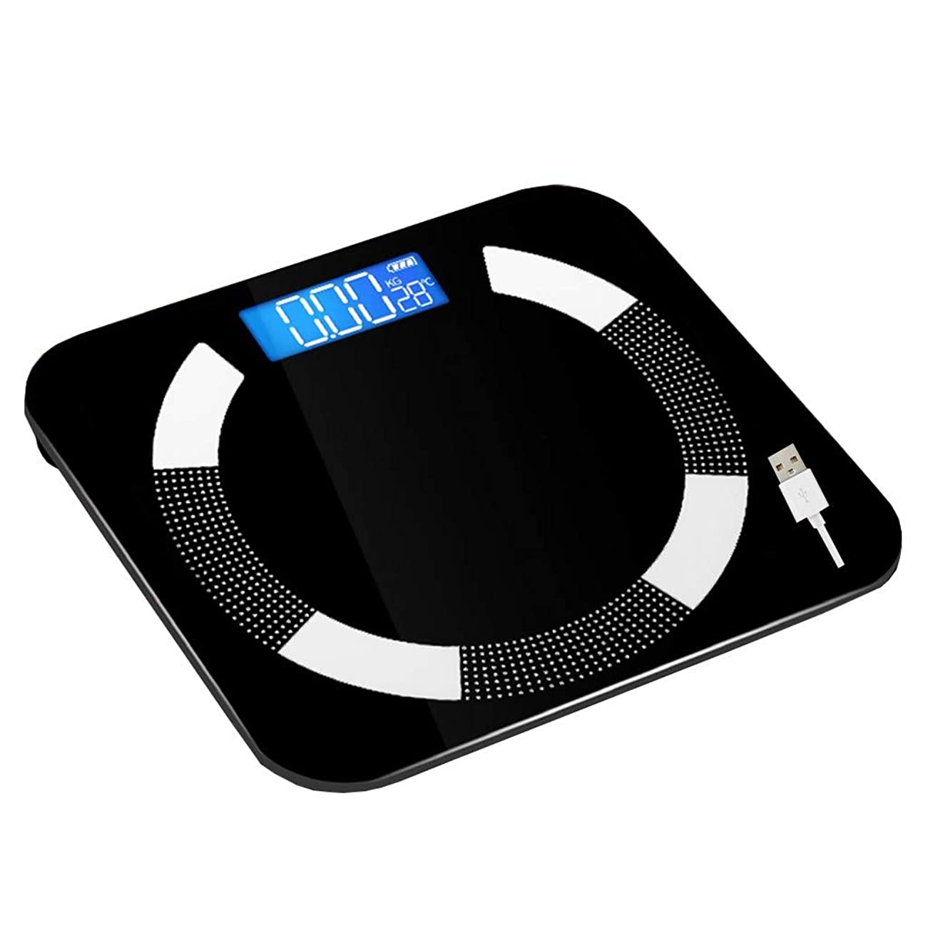 放出ミニ予算高精度体重計デジタル健康的な失う体重浴室スケール隠しスクリーンディスプレイ強化ガラスusb充電180キログラム容量