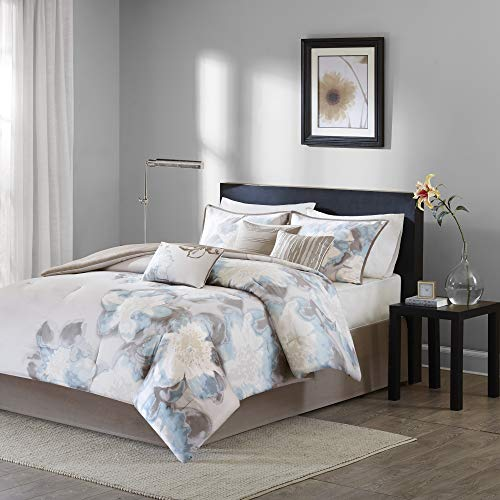 Madison Park MP10-1688 Serena Comforter Set Queen Blue