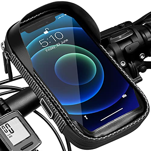 Soporte de teléfono móvil para bicicleta, resistente al agua