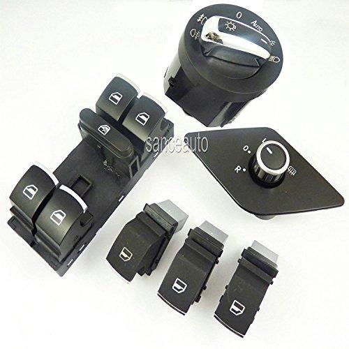 6Chrom Seite Spiegel Scheinwerfer Elektrische Fenster Schalter New für MK6Vento