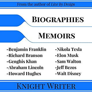 Biography: 10 Biographies and Memoirs     Richard Branson, Elon Musk, Jeff Bezos, Sam Walton, Howard Hughes, Nikola Tesla, Walt Disney, Benjamin Franklin, Genghis Khan, Abraham Lincoln              De :                                                                                                                                 Knight Writer                               Lu par :                                                                                                                                 Richard Banks                      Durée : 5 h et 23 min     4 notations     Global 4,8