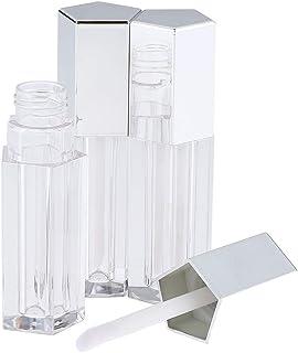 F Fityle 3本 リップグロスチューブ 空チューブ オイルボトル コスメ 詰替え容器 3色選べ - 銀