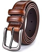 Mens Belt, Autolock Genuine Leather Dress Belt Classic Casual 1 1/4