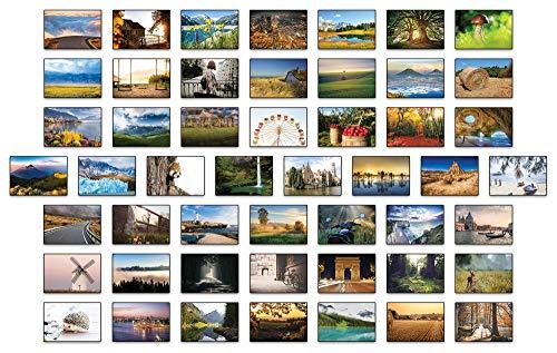 Landschaften Postkarten - 50 verschiedene Postkarten Set 2