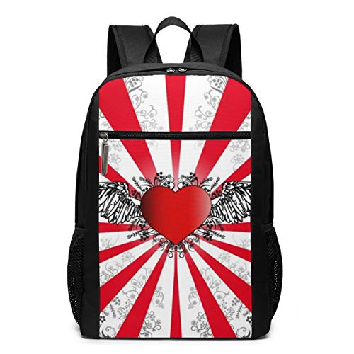 The Best Top Love Laptop Backpack 17inch- School Travel Backpack Casual Daypack For Business/College/Women