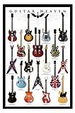 Poster Guitar Heaven - berühmte E-Gitarren aus der