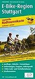 E-Bike-Region Stuttgart: Leporello Radtourenkarte mit Ausflugszielen, Einkehr- & Freizeittipps, Straßennamen, E-Bike-Lade- und Verleihstationen, ... 1:50000 (Leporello Radtourenkarte /...