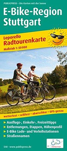 E-Bike-Region Stuttgart: Leporello Radtourenkarte mit Ausflugszielen, Einkehr- & Freizeittipps, Straßennamen, E-Bike-Lade- und Verleihstationen, ... 1:50000 (Leporello Radtourenkarte: LEP-RK)