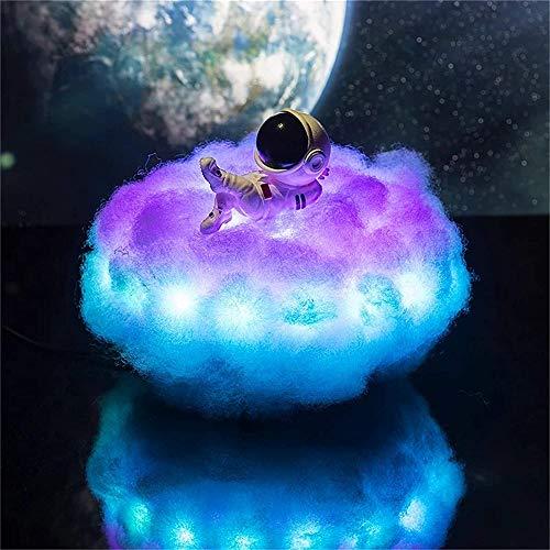 Astronaut Cloud Nachtlicht Astro Lamp Home Ornamente Kreative Fernbedienung LED Traumfänger Party Beleuchtung Dekoration (Doppelte Farbe (C))