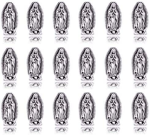 40 Virgin Mary Beads for Rosary Holy Alloy Beads DIY Necklace Bracelets Jewelry Making 0031 product image