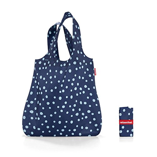 reisenthel Mini Maxi Shopper Spots Navy Bolsa de la Compra, poliéster, 60x43.5x7 cm