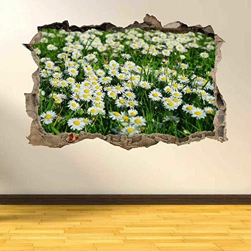 Pegatinas de pared Camomile Daisy Flower Wall Art Sticker Mural Wallpaper Home Office Decor AN9