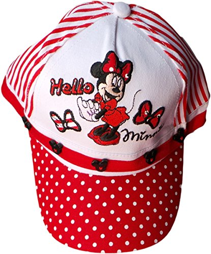 Disney Minnie Maus Cap - Hello Minnie - Rot/Weiß/Mehrfarbig - Minnie Maus Motiv