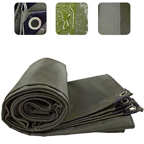 XZtianxie Verde Militar Lona Impermeable Exterior, Recubrimiento De PVC / 0.75 Mm De Espesor Lona De Protección, Parasol Moho Resistente A La Tracción Resistente Al Desgaste,5X10M