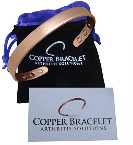 Copper Bracelet for Arthritis - Guaranteed 99.9% Pure Copper Magnetic Bracelet Men + Women 6 Powerful Magnets Effective Natural Joint Pain Relief, Arthritis, RSI, Carpal Tunnel. (1 Bracelet)