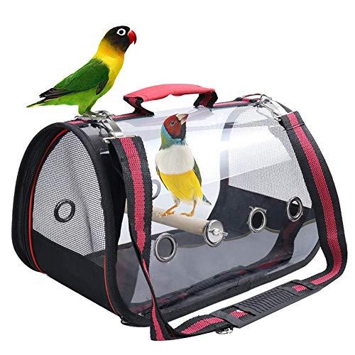 LEBANG Vogelkäfig-Rucksack, leicht, Vogelkäfig, Papageien, Reisetasche, geeignet für Vögel, transparent und atmungsaktiv (groß/73 x 24 x 28 cm)