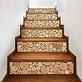 WYKDL Peldaños de escalera Papel tapiz 3D Pegatinas de vinilo Escalera de arte extraíble Paquete de 6 tiras de escalones Piso de exterior al aire libre Vinilo de seguridad Decoración for el hogar Calc