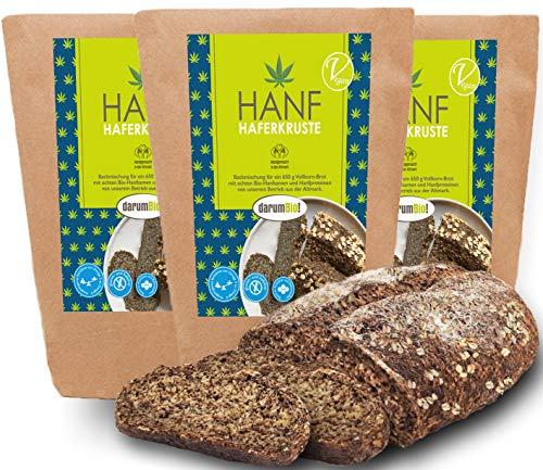 Glutenfreie Bio Brotbackmischung aus DEUTSCHLAND I 3er Sparpack I Regional I ohne Hefe I proteinreich I fettarm I ohne Backzusätze I vollwertig
