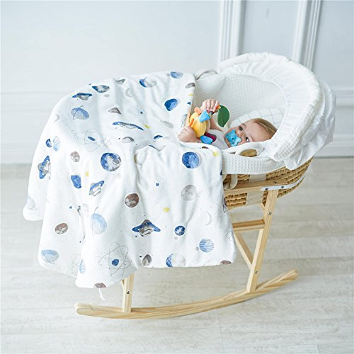 Mangeoo Cotton with CAP baby thickening quilt in spring and Autumn,Planet (cotton padded quilt)
