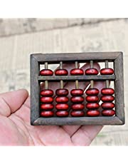 Wooden Abacus Arithmetic Kids Maths Calculating Tools Chinese Abacus Toys Abacus Educational Small Size 9cmx6.8cm