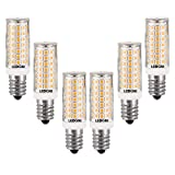 LEDGLE Bombillas LED E14, 8W Regulable Blanco Cálido 3000K, 80W Equivalente de Halógeno, 88 LEDs 700lm Edison E14 LED Maíz Bombillas, 6 Unidades