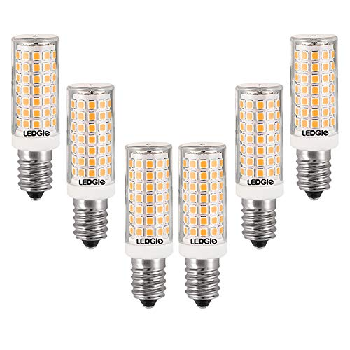 LEDGLE 8W E14 LED Dimmable Lampe, 88 LEDs 700lm Glühbirnen, Warmweiß 3000K, Kein Flackern Weitwinkel, 80W Traditionelles Lampenäquivalent, 6er-Pack