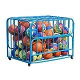 Soporte de baloncesto Jardín de infancia baloncesto Cesta de la compra Clamshell bola de baloncesto de almacenamiento de almacenamiento plegable de Baloncesto Voleibol Fútbol Balones medicinales