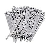 ZNMUCgs 100 bridas de acero inoxidable para cables de escape, autobloqueo, para garaje doméstico, 4,6 x 130 mm, 13 x 0,46 cm.
