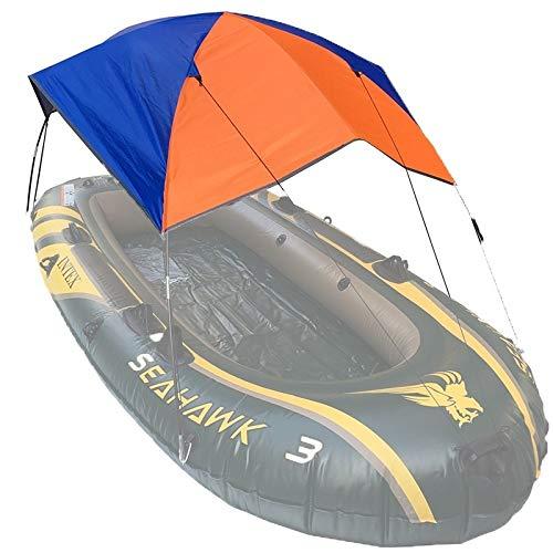 Wuqiang 68377 Toldo Plegable Canoa Inflable de Goma Barco Sombrilla Carpa for 4 Personas, Barco no está Incluido Yangweigang