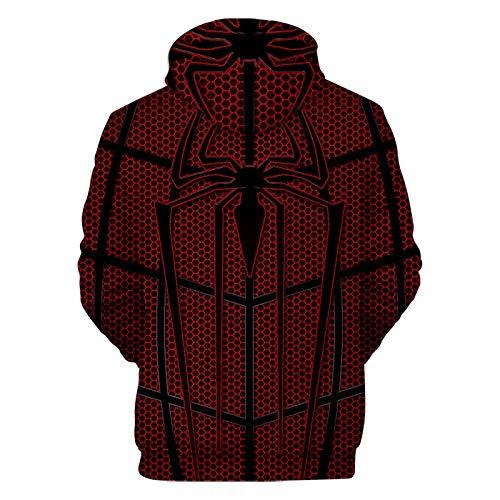 Atecou Unisex 3D Impreso Marvel Spider-Man Regreso a casa Cosplay Disfraz Sudaderas con Capucha Sudadera con Capucha Sudaderas con Estampado de superhroe con Bolsillos para Hombres y Mujeres