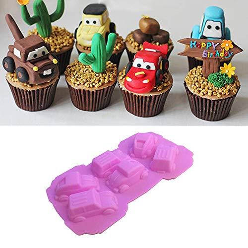 Moules de cuisson de silicone de moule de voiture, moule fait main de DIY pour la sucrerie de vacances, gâteau, biscuits