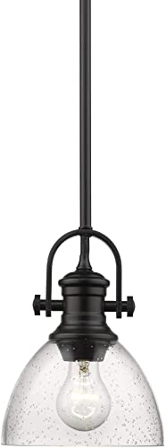 new arrival Hines high quality Mini Pendant Matte Black with Seeded online Glass outlet sale