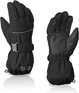 Ski Gloves,Waterproof Warm Winter Breathable  Snow Snowboard Gloves for Boys, Girls, Kids