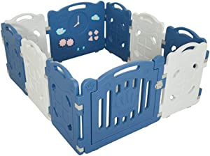 Eco-Friendly Baby Play Fence Indoor Playground Children S Barrier Hdpe Foldable Portable Suitable For 0-6 Years Old Baby Color Panel