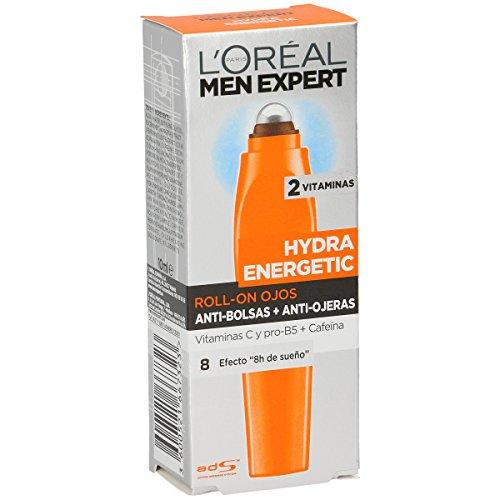 L'Oréal Paris Men Expert Hydra Energetic Roll-on de Ojos Efecto Hielo, Anti...
