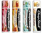 Chapstick Limited Edition Holiday 2017 Set of 4 - Caramel Crème, Holiday Cinnamon & Holiday Cocoa + Bonus Fan Favorite Chapstick in Cake Batter