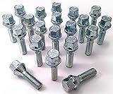 20 tornillos m12 x 1,5 x 21 kegelbund perno de rueda 60 ° cono sw17 envío DHL