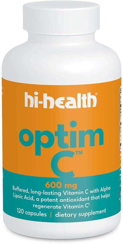 Hi-Health Price reduction Optim-C 600 mg Buffered 120 Special Campaign C Capsules Vitamin