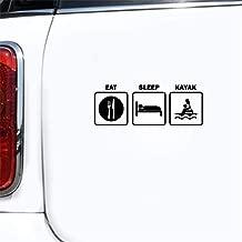 yaunds Car Decal Sticker Car Sticker 15.8Cmx5.9Cm Eat Sleep Kayak Decal Car Fishing Canoe Funny Car Sticker S and Motorcycle Decorating Sticker S for Car Laptop Window Sticker