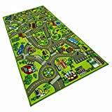 X-Large 6.5 Ft x 3.2 Ft Road Rug for Kids - Kids Carpet Playmat Rug - City Life Rug with Non-Slip Backing - Portable Fun Play Mat for Toy Cars - Ideal for for Both Boys and Girls