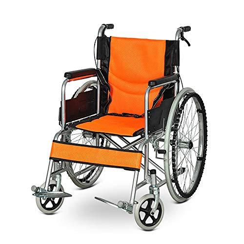 Falten Rollstuhl-Leicht Rollstühle mit Selbstantrieb mit Breath Kissen, Tragbare Mobilität, Voll Fix Armstützen, Sitzbreite 45cm
