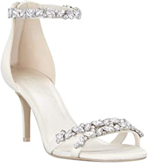 David's Bridal Jeweled Satin Ankle Strap Heels Style Arden