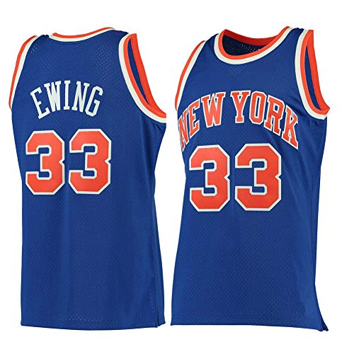Herren Legende Basketball Kleidung/New York Knicks 33# Patrick Ewing Trikot Retro Fan Swingman Basketball Trikot Sport Weste Sporthemden Bestes Geburtstagsgeschenk (Größe S-XXL)-M