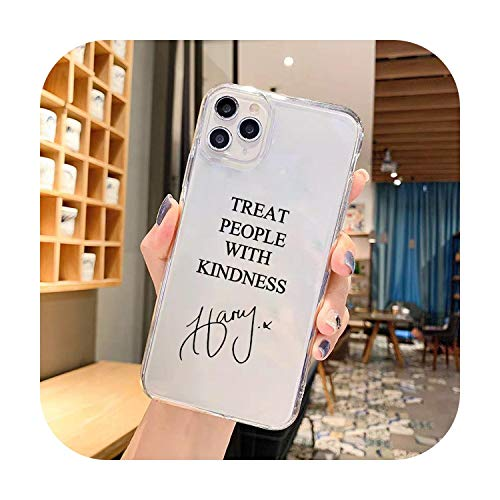 Cuty-girl Harry Styles Treat People with Kindness - Carcasa transparente para iPhone 11 Pro XS MAX SE 20 X XR 7 8 6Plus transparente suave TPU estilo 3-para iPhone 8