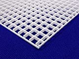 1/2' (12mm) White Grid Divider EggCrate Louvre 23.5' x 11.5' for Aquarium Lighting Nominal Size AZM